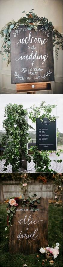 wedding photo - 15 Chic Greenery Wedding Signs For 2018 Trends