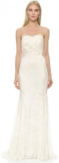 wedding photo - Theia Sweetheart Strapless Lace Gown