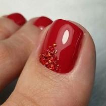 wedding photo - 60 Pretty Toe Nail Designs For Autumn