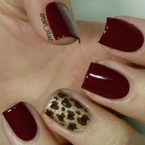 wedding photo - OPI Skyfall, LAMB, And How Great Is Your Dane? - Leopard Spot Mani