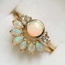 wedding photo - 14kt Gold Opal Caribbean Sunrise Ring