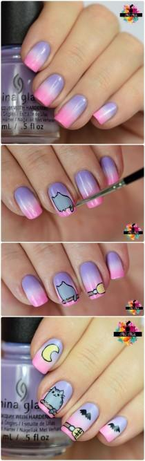 wedding photo - Cartoon Nail ARt