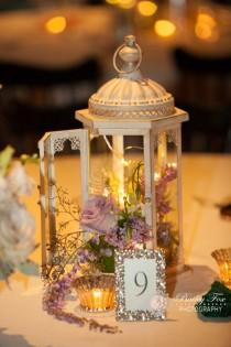 wedding photo - Lantern Centerpiece