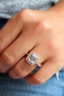 wedding photo - 27 Eye-Catching Emerald Cut Engagement Rings