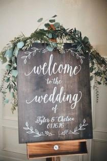 wedding photo - 15 Chic Greenery Wedding Signs For 2018 Trends - Page 2 Of 2