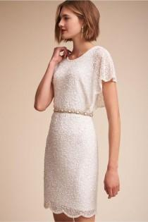 wedding photo - Keep It Chic And Simple In These Classic BHLDN Wedding Dresses