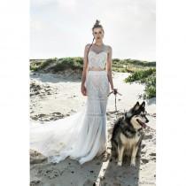 wedding photo - Limor Rosen 2018 Ruby Ivory Split Chapel Train Lace Sweetheart Sequins Sheath Summer Beach Sleeveless Wedding Gown - Charming Wedding Party Dresses