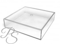 "wedding photo - Wedding Cake Stand, Cake Plateau, clear cake stand - 14""x14""x4""H"