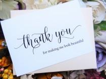 wedding photo - HAIRSTYLIST THANK YOU Card, Beautician Thank You, Make  Up Artist Thank You, Wedding Thank You Cards, Personalized Thank You Cards