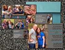 wedding photo - Classic Photo Collage Wedding Invite, Customized, 5x7