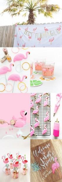 """wedding photo - """"Let's Flamingle"""" Flamingo Bridal Shower Inspiration"""