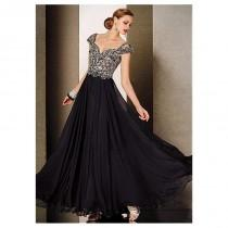 wedding photo - Elegant chiffon Sweetheart Neckline A-line Evening Dresses With Beads - overpinks.com