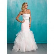 wedding photo - White/Silver Allure Bridals 9317 Allure Bridal - Rich Your Wedding Day