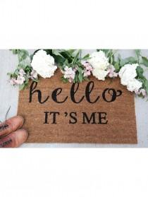 wedding photo - Hello It's Me Doormat
