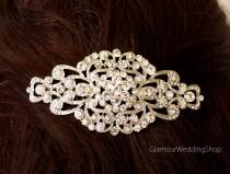 wedding photo - Bridal Hairpiece Crystal Silver Hair Comb Wedding Accessories Rhinestone Hair Combs Headpiece Hair Jewelry