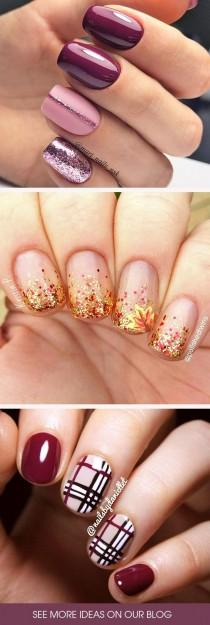 wedding photo - 45 Must Try Fall Nail Designs And Ideas