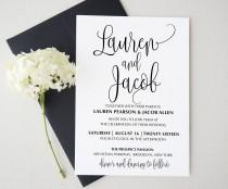 wedding photo - Wedding invitation template . Printable Wedding Invitation Suite. Wedding Invitation Suite. Wedding Invitation Set. made to order invitation