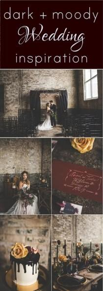 wedding photo - Dark And Moody Wedding Styled Shoot