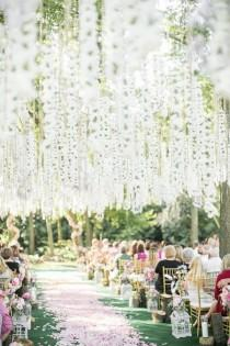 wedding photo - Trending-12 Fairytale Wedding Flower Ceiling Ideas For Your Big Day - Page 2 Of 2