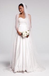 wedding photo - Ebie Lace & Silk Charmeuse Dress