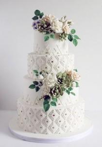 wedding photo - Patterned Wedding Cake