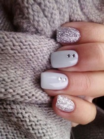 wedding photo - 30 Winter Bridal Nails For Winter