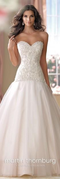 wedding photo - Organza & Tulle Sweetheart Neckline A-Line Wedding Dress- 114270 Cora