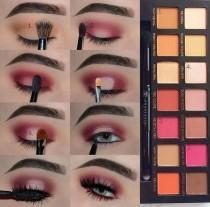 wedding photo - Pink Eye Makeup