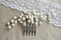 wedding photo - Pearl Hair Comb, Pearl Headpiece, Bridal Headpiece, Bridal Hair Piece, Wedding Pearl Comb, Pearl Hairpiece, Pearl Hair Jewelry, Bridal Comb