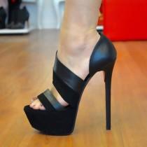 wedding photo - Sexy Super High Heel Platform Sandals