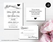 wedding photo - Printable Wedding Invitation. All You Need Is Love. Beatles Wedding Invite. Love Is All You Need.