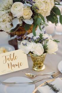 wedding photo - Custom Table Name Cards - Wedding Table Numbers - Gold Foil Table Numbers - Gold Table Cards - Elegant Decor - Wedding stationery