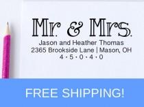 wedding photo - Return Address Stamp - Self Inking Address Stamp - Personalized Address Stamp   (D182)