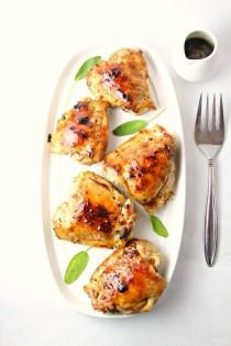 wedding photo - Cranberry Sage Glazed Grilled Chicken Thighs