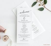 wedding photo - Wedding Program Template
