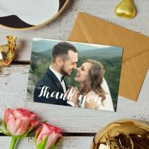 wedding photo - EXQUISITE, Wedding Thank You Cards With Photo, Wedding Thank You Cards, Wedding Photo Thank You Card, Thank You Notes, Thankyou Cards