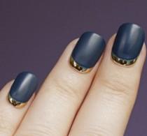 wedding photo - Reverse French Nails