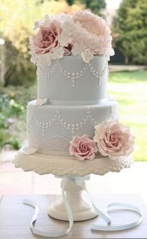 wedding photo - Pastel Blue Cake