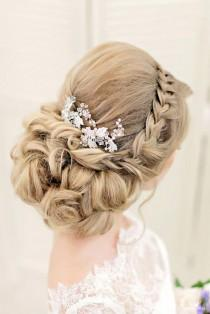 wedding photo - 30 Graceful Wedding Updos With Braids