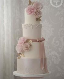wedding photo - Pastel Pink Cake
