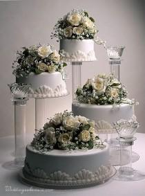 wedding photo - Cascading Wedding Cakes