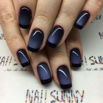 wedding photo - Black Ombre French Manicure