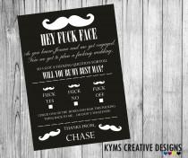 wedding photo - Will you be my Best Man, Will you be my best man invitation, best man announcement, Funny wedding card,  Supplied with Envelope