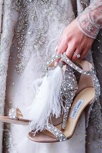 wedding photo - 30 Officially The Most Gorgeous Bridal Shoes