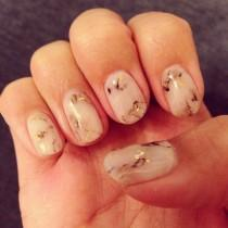 wedding photo - Marble Nails