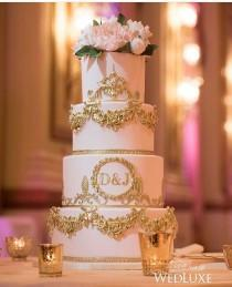 wedding photo - Cake With Initials