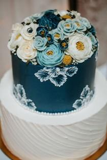 wedding photo - Elegant Wedding Event Inspired By Cyanotype Blues