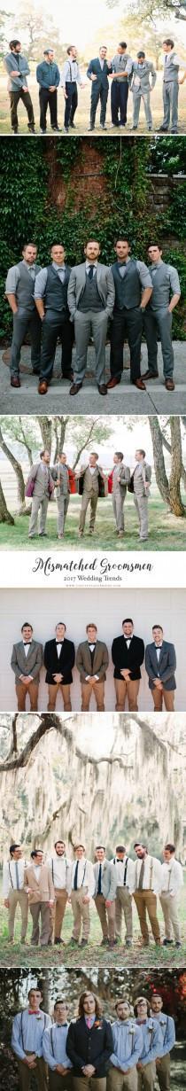 wedding photo - Mismatched Groomsmen