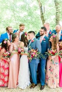 wedding photo - Brightly Colorful Sequined Wedding