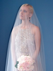 "wedding photo - Circle Drop Illusion Tulle Wedding Veil Custom Length (Lengths +72""-106"")"